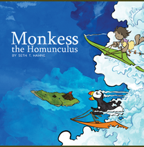 Monkess The Homunculus, a graphic novel for children by Seth T. Hahne